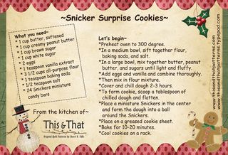Snicker surprise cookies