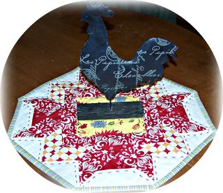 Chicken candle mat