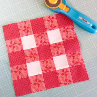 Gingham Stars plaid square