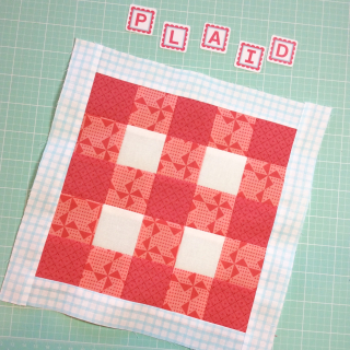 Plaid block with border
