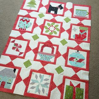 Sampler blocks with sashing